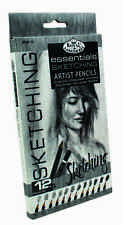 12 Graphite Pencil Sketching Drawing Set 6B 5B 4B 3B 2B B H 2H 3H 4H 5H SPEN12