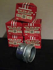Lot of 5 Midwest Electric 3-Inch Connectors Thin Wall Conduit Set Screw Type 457