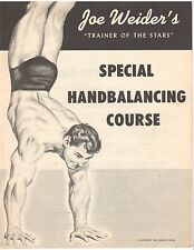 "JOE WEIDER ""Special Handbalancing Course"" bodybuilding muscle program 1959"