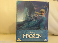 Disney Frozen 3d Steelbook Blu Ray zavvi Exclusivo ** Nuevo Y Sellado **