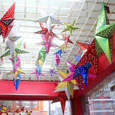 2016 Xmas String Hanging Star Christmas Party Decor Christmas Tree Ornament Red