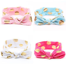 Baby Girls Kids Princess Bow Knot Turban Headband Hair Accessories Band Headwrap