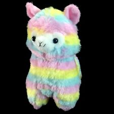 "Rainbow Alpaca 7.25"" Llama Stuffed Animal Plush Cute Doll Toy"