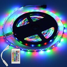 5M 3528 RGB Non Waterproof Strip 300 SMD LED Light +24Key IR Remote Controller