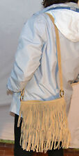 borsa da donna in vera pelle made in italy nuova   bag leather scamoscita frange