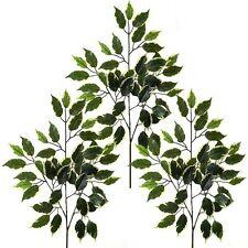 3 Artificial 50cm abigarrada Ficus ramas-Decorativa De Plástico tallos / Plantas