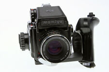 Mamiya 645 Camera with 80mm f2.8 Lens AE Meter Prism   120 Insert and Grip