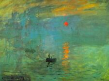 CLAUDE MONET SUNRISE OLD MASTER ART PAINTING PRINT POSTER 618OMLV