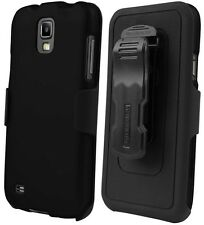 BLACK CASE BELT CLIP HOLSTER SCREEN PROTECTOR FOR SAMSUNG GALAXY S4 ACTIVE i537