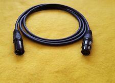 Canare L-4E6S XLR-M (male) to XLR-F (female) Balanced Audio Cable - Black - 3 Ft