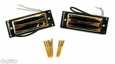 DeVille Hot-Rod GOLD Mini Humbucker matched set with mounting rings #54-033-01