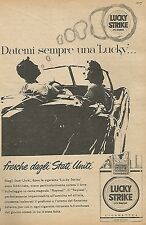 W1533 Sigarette LUCKY STRIKE - Pubblicità del 1956 - Vintage advertising