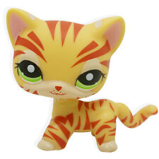 Hasbro  Little Pet Shop Collection LPS Short Hair Orange Tiger Striped Cat