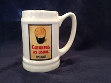 GUINNESS AS USUAL THERE'S NOTHING LIKE GUINNESS beer Mug - Carrigaline Pottery