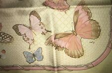 Beautiful HERMES Farandole scarf FRANCE 100% SILK foulard butterfly carre