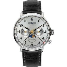 Zeppelin Hindenburg Moonphase Mens Watch 7036-1