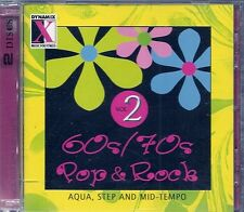 2 CD COMPIL 20 TITRES--62s & 70s POP & ROCK--AQUA STEP AND MID TEMPO