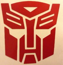 Red Reflective Transformers Autobot Decal Sticker Helmet Tank Motorcycle 17-26