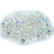 1Pc Natural Rainbow Moonstone Round (faceted-3mm)