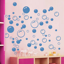 Bubble Wall Art Bathroom Window Shower Tile Decoration Decal Kid Sticker Blue