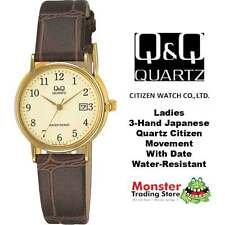 AUSSIE SELLER LADIES LEATHER BAND WATCH WITH DATE CITIZEN MADE BL03J103 WARRANTY