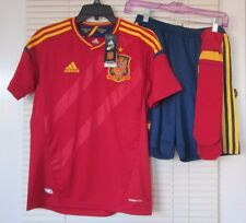 Adidas Soccer Shirt Shoes Socks Spain Red Blue and Gold  NWT Youth Large L