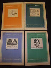 4 ISSUES: CURRENT AFFAIRS NO'S 83, 86, 91, 97. BUREAU OF CURRENT AFFAIRS 1949