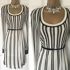 Oasis Jumper Dress Size 12 Evening Occasion Party Races Sparkly Striped,