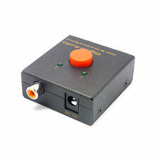SPDIF Audio Optical TOSLINK to Coaxial Bi-Directional Switch Converter