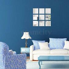 16pcs Home Mirrors Mosaic Tiles Self Adhesive Wall Stickers Decoration Decal US