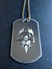 The World Ends With You Player Pin Dog Tag Necklace handmade necklace  twewy