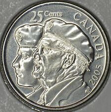 CANADA 25 cents 2005P Year of the Veteran -MS