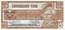 Canada / Canadian Tire 50 Cents , ND. 1990's  Circulated Banknote , M8