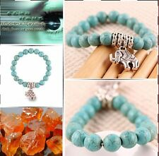 Hot Beads Fashion Classical Natural Turquoise Cute tibet silver Bracelet Bangles
