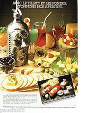 PUBLICITE ADVERTISING 116  1983  produits d'Allemagne saucisson fromage apéritif