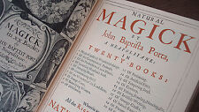 Rare Naturak Magick by Porta / HARDCOVER OCCULT WITCHCRAFT MALLEUS WICCA