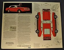 1974 Ford Mustang II Cutout Sales Brochure Sheet Ghia Excellent Original 74