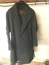 Manteau Coat LOUIS VUITTON T52 100% LAINE Made in France Gris Foncé