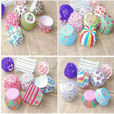 100x Paper Cake Cup Liners Baking Cupcake Muffin Wrapper for Wedding Party