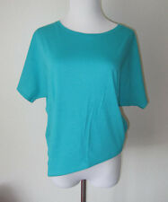 "NWT $65 PUMA by HUSSEIN CHALAYAN TEAL ""SLOPE"" YOGA CASUAL T- SHIRT TOP S"