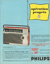 Publicité Advertising 1965  Poste Transistor PHILIPS  L 4 F 53 T