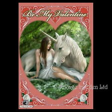 *PURE HEART* Anne Stokes Unicorn Fantasy Art Valentine Card (AN57)
