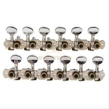 6L6R 12 String Acoustic Guitar Tuning Pegs Machine Heads Tuner (Plating Head)