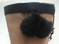 NEW BOOT CUFFS. FLUFFY BLACK POM POMS. PERFECT GIFT.