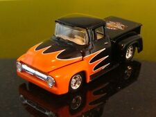 Harley Davidson Ford 1956 56 Ford F100 Supercharged Hot Rod1/64 Scale Ltd Edit Z