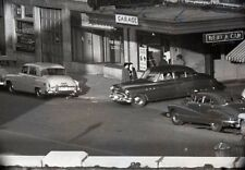 1940-50s Hertz Rent-A-Car Store Front and Garage - Vintage 35mm Negative