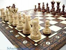 ROYAL LUX LARGE WOODEN CHESS SET HANDCRAFTED BOARD 21``