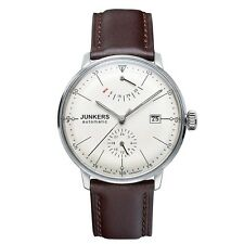 Junkers Bauhaus Automatic Brown Leather Strap Watch 6060-5