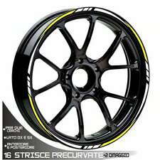 MOTORCYCLE RIM STRIPES WHEEL TAPE BIANCO GIALLO PIAGGIO FLY 50-125-150