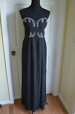 Modcloth I Get A Glitz Out of You Black  Maxi gown NWT Sz. 14 stunning